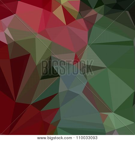 Deep Carmine Pink Abstract Low Polygon Background