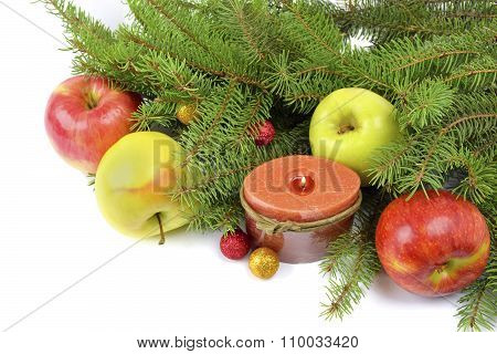Christmas Tree Decorated In A Rustic Style