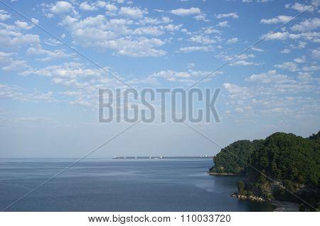 Sea Horizon Abstract Backgound
