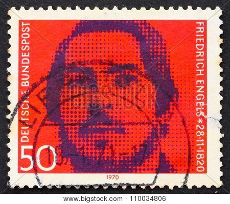Postage Stamp Germany 1970 Friedrich Engels