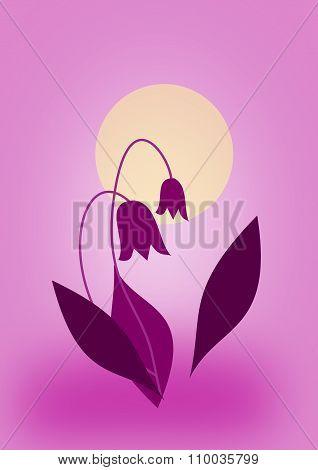 Flowers in Moonlight