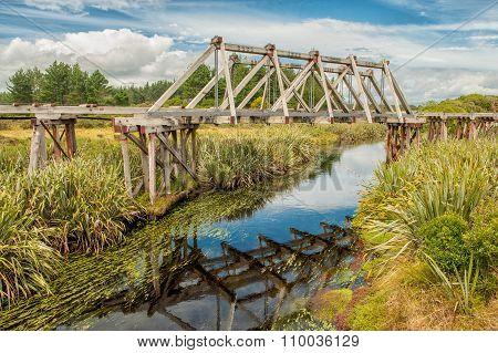 Old railroad bridge, South Island, New Zealand