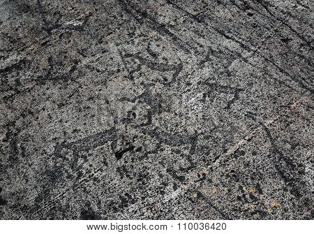 Rock paintings - petroglyphs of Zalavruga in Karelia