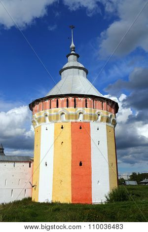 tower of Spaso-Prilutsky monastery in Vologda, Russia