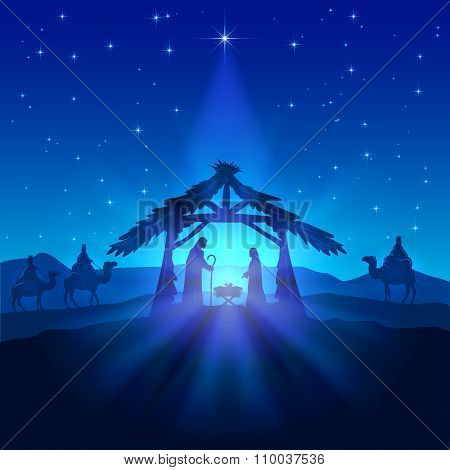 Christmas Star And Birth Of Jesus