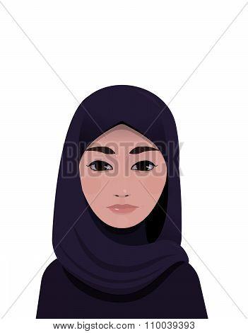 Portrait of muslim beautiful woman in hijab