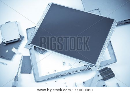Broken Lcd Display Repair Concept