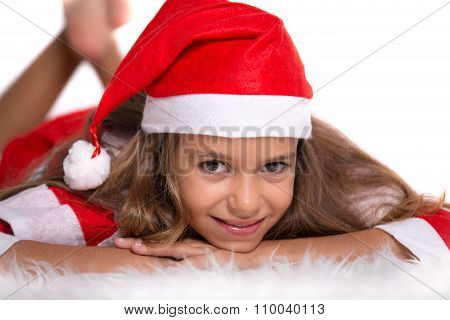 Cute Girl With Santa Outfit