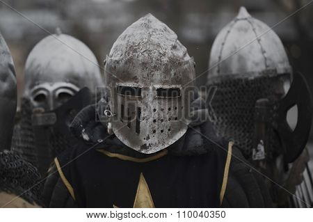 Medieval knight before the battle