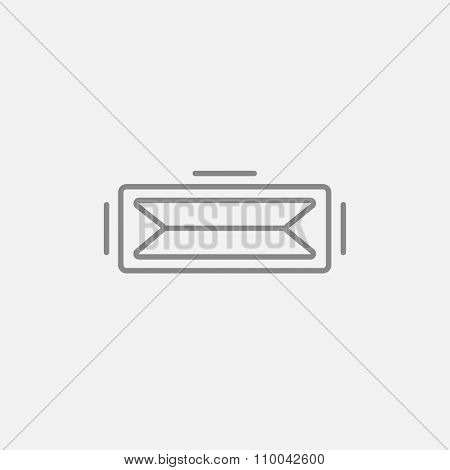 Virtual reality headset line icon for web, mobile and infographics. Vector dark grey icon isolated on light grey background.