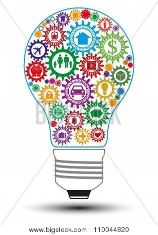 Insurance Light Bulb Design Concept