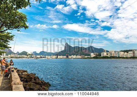 RIO DE JANEIRO, BRAZIL - CIRCA NOVEMBER 2015: Guanabara Bay in Rio de Janeiro, Brazil
