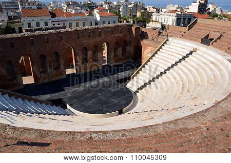 Old Greece Theater Odeon In The City Of Patras