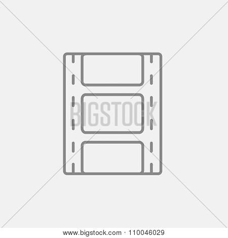 Negative line icon for web, mobile and infographics. Vector dark grey icon isolated on light grey background.