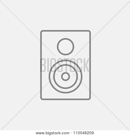 MP3 player line icon for web, mobile and infographics. Vector dark grey icon isolated on light grey background.
