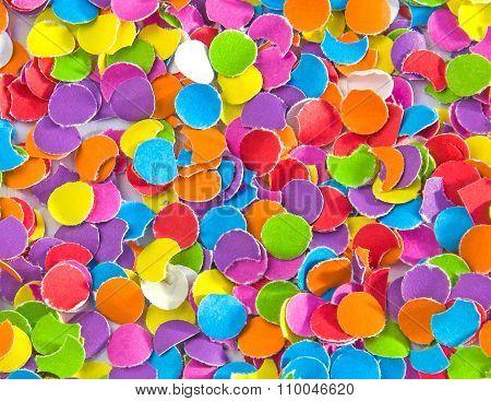 Background Of Colorful Confetti.