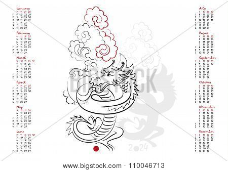 Calendar 2024 The Year Of The Dragon
