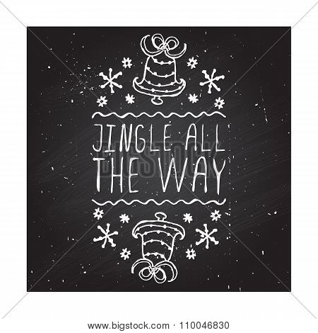 Jingle all the way - typographic element
