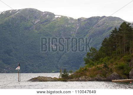 Landscape with mountains in Norway