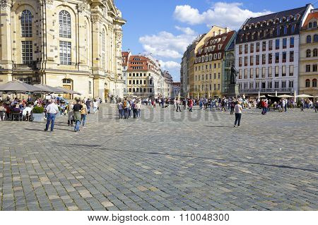 Dresden, General View Of The New Market Square
