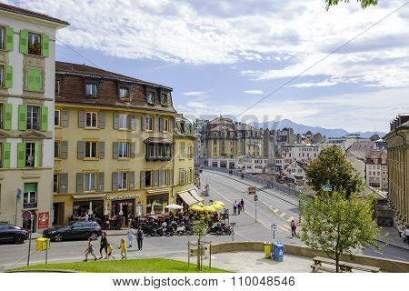 General View Of The City Of Lausanne