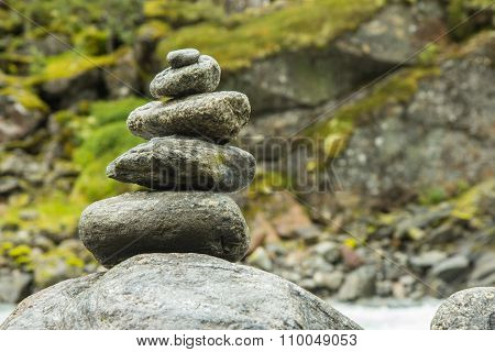 Cairn on a mountain in Norway