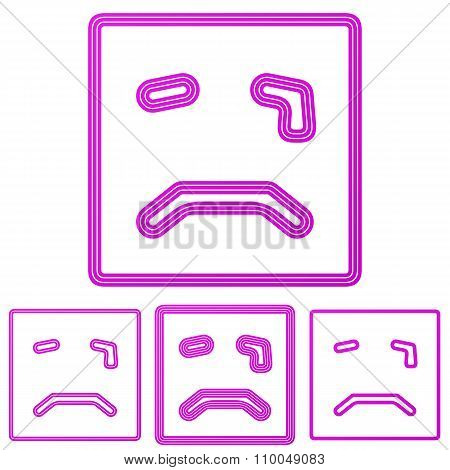 Magenta line cry logo design set