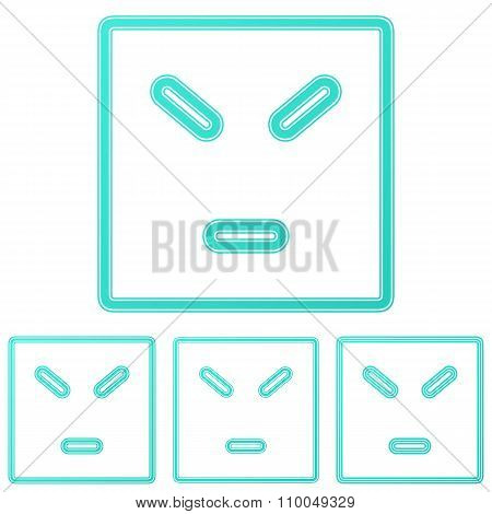Color line anger logo design set