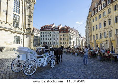 Traditional Horse Carriage In The Shadow