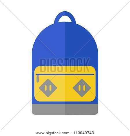 Backpack isolated icon on white background.