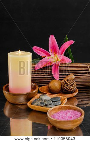 Spa feeling with lily, candle