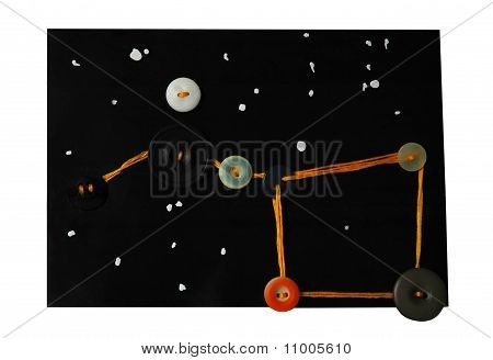 Big Dipper As Art Postcard