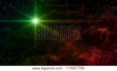 Starry Night Green Color Star Cross