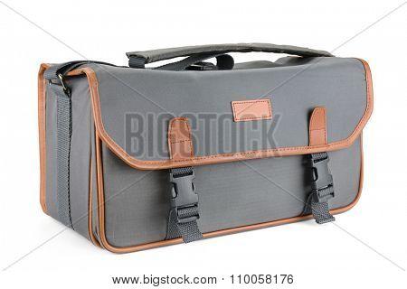 Camera bag isolated on white