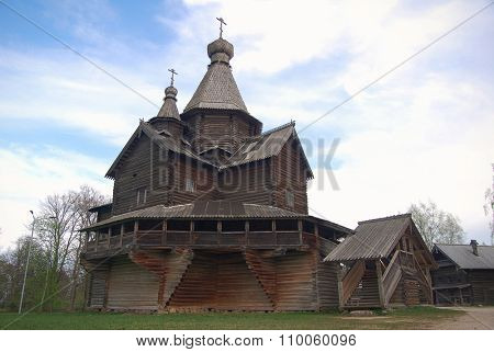 Russian wooden historical house