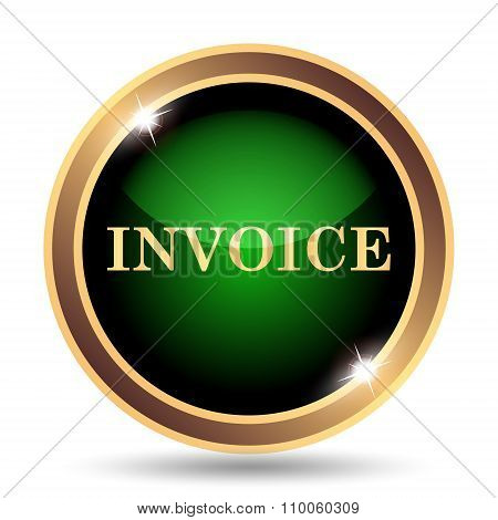 Gold and green invoice Icon