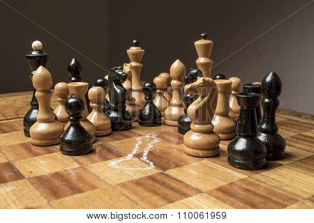 Chess King Killed On The Chessboard