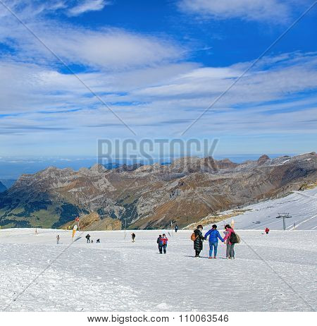 View On The Top Of Mt. Titlis