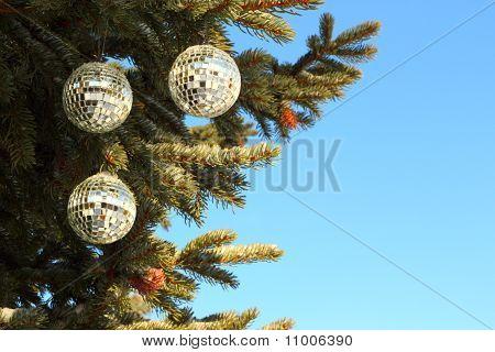 Christmas Tree With Mirror Balls