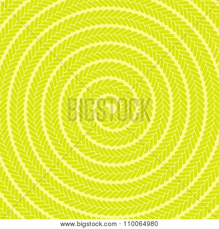 Abstract Yellow Spiral Pattern