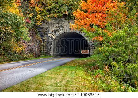 Tunnel On The Blue Ridge Parkway In North Carolina