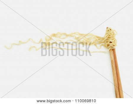 Chinese Noodles With Chopstick