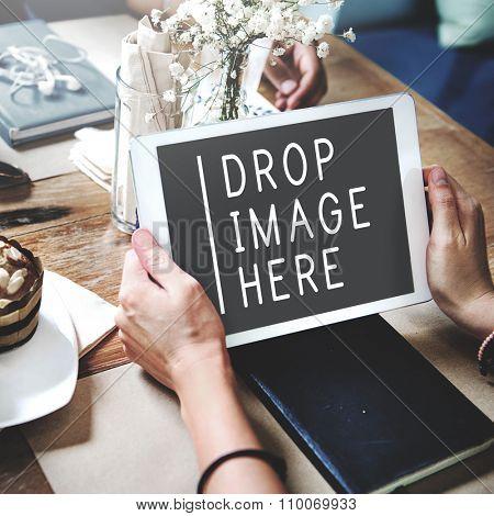 Upload Connecting Share Upload Social Communication Concept