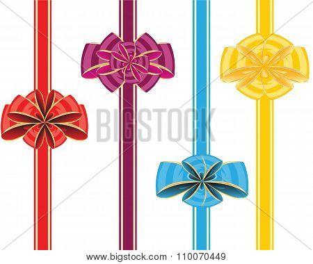 Holiday ribbon and bow