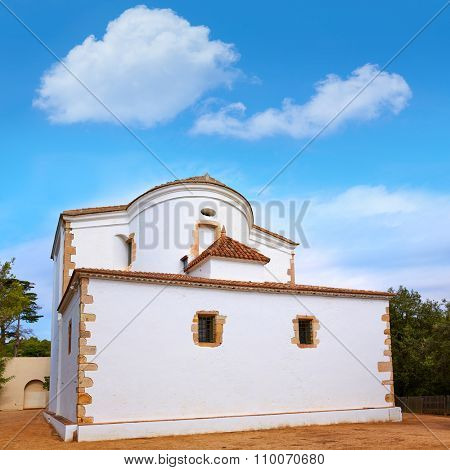 Santa Cristina Ermita hermitage in Lloret de Mar at Costa Brava of Catalonia Spain