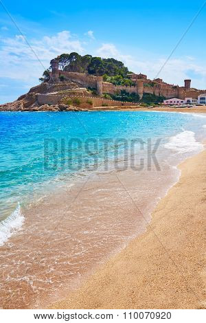 Tossa de Mar beach in Costa Brava of Catalonia Spain Platja Gran playa