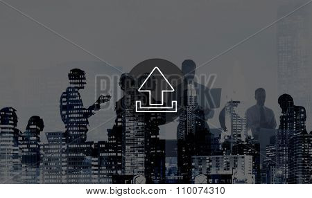 Upload Digital Computing Trasfer Storage Internet Concept