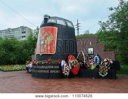 Monument To The Dead Submariners In Murmansk