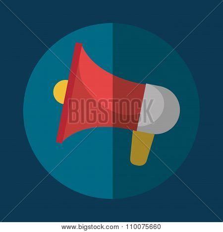 Bullhorn megaphone icon graphic