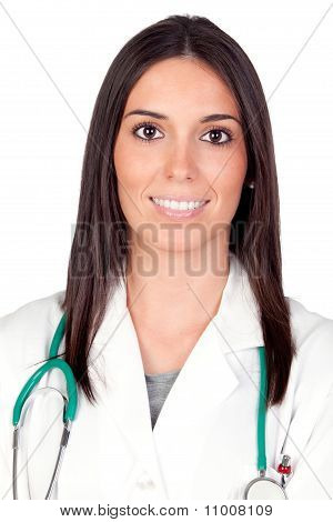 Attractive Brunette Doctor